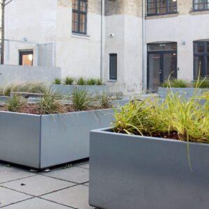 Land Modern kvadratisk blomsterkasse in høygalvanisert magnelis stål